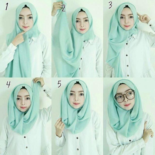 Cara Memakai Hijab Style Modern Simple Terbaru