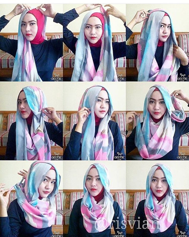 Cara Pakai Modern Hijab Styles Images Galleries With A Bite