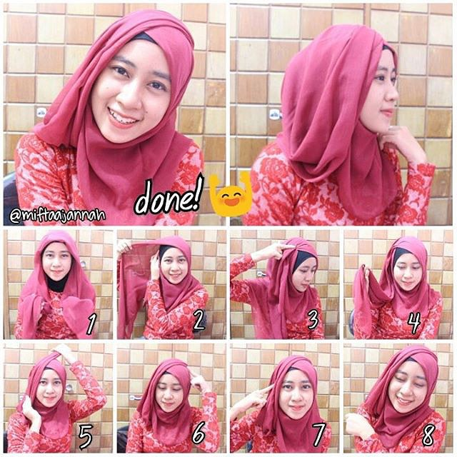 Cara Pakai Hijab Segi Empat Modern