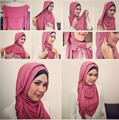 Hijab tutorial segi empat terbaru