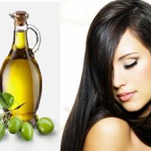 rambut lurus dengan minyak zaitun