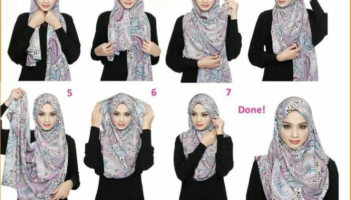 Tutorial Hijab Pashmina Sifon Simple Dan Mudah Mudation Com